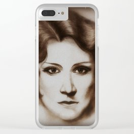 Serious Maude Clear iPhone Case