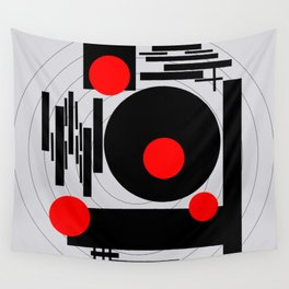 Optical Red Wall Tapestry