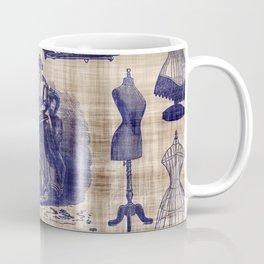Vintage Sewing Toile Coffee Mug