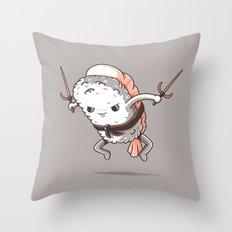 Samurai sushi - Shrimp Throw Pillow