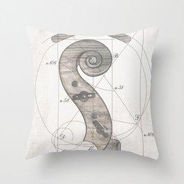 musical geometr.eye Throw Pillow