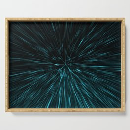Blue and black Hypergalaxy Serving Tray