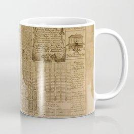 Map of Kingston 1745 Coffee Mug