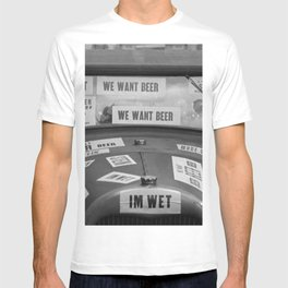 Vintage I'm Wet - We Want Beer - Repeal Prohibition black and white photograph / photographs poster T-shirt