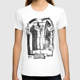 Waiting for Salvation - b&w T-shirt