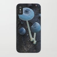pixies iPhone & iPod Cases featuring Pixies Parasol (Mycena interrupta) by Clusterpod