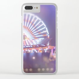 California, Los Angeles, beach, seaside, ocean, surf, downtown, Cali, SoCal, west coast, sky, summer Clear iPhone Case