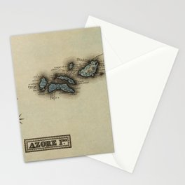 Vintage Azores Islands Map (1823) Stationery Cards