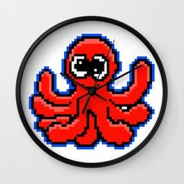 8-Bit Pixel Art Octopus Funny Pixelart Design Wall Clock