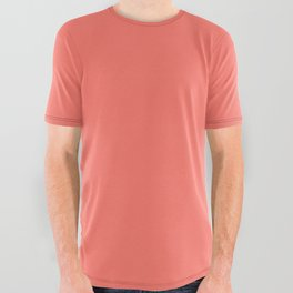 Solid Colors Series - living coral All Over Graphic Tee