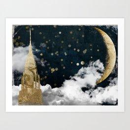 Cloud Cities New York Art Print