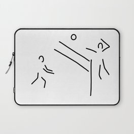 volleyball clench wet Laptop Sleeve