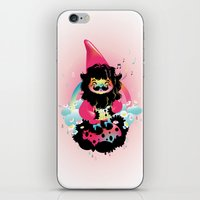 gnome iPhone & iPod Skins featuring Whistling gnome by Meni Tzima