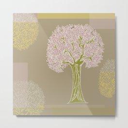 Tree of Life Colorblock Metal Print