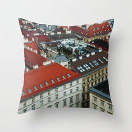 Vienna rooftops II Throw Pillow