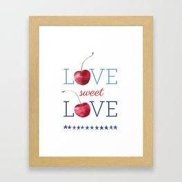Love Sweet Love Framed Art Print