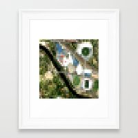 melbourne Framed Art Prints featuring Melbourne by Mark John Grant