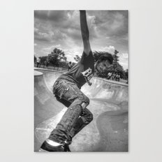 The Skater In The Bowl Canvas Print
