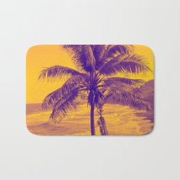 Golden Black Sand Beaches and Palm trees Bath Mat