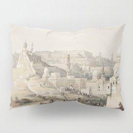 Karnac (Karnak)  by David Roberts (1796-1864) Pillow Sham