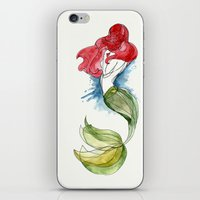 little mermaid iPhone & iPod Skins featuring Little Mermaid by Ines92