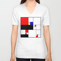 fibonacci V-neck T-shirts featuring Neo-Plastic-Fibonacci-1 by AMO Design
