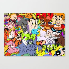 Defective Cartoon 01 Canvas Print