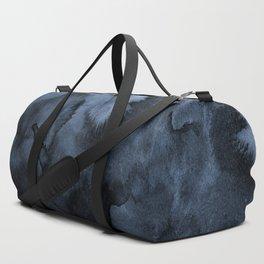 Watercolor Splash in Blue Duffle Bag