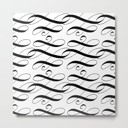 Curly Pattern 05 Metal Print