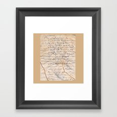 French Parchment Framed Art Print