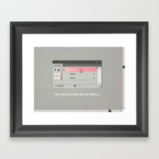 You have a lock on my heart Framed Art Print