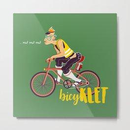 BicyKLET Metal Print
