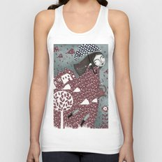 Clouds in July, Raindrop Sky Unisex Tank Top