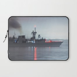 Warship Weighs Anchor Laptop Sleeve