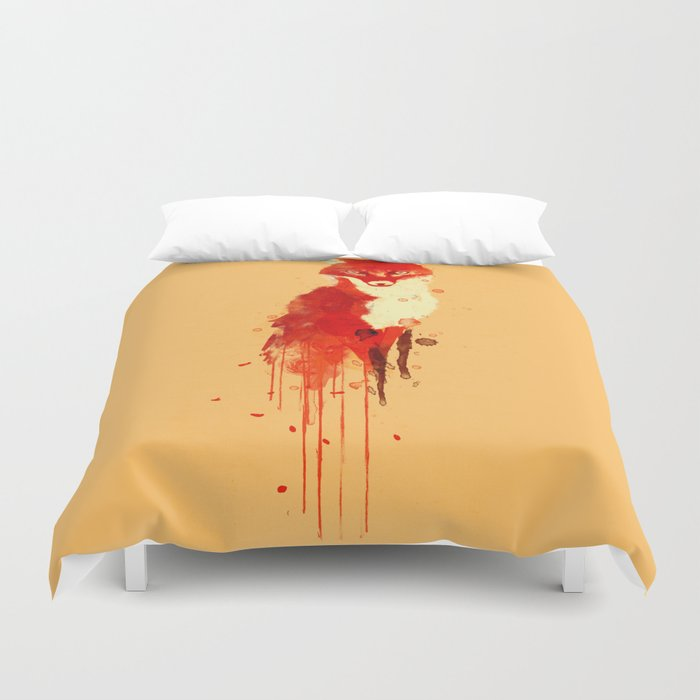 The fox, the forest spirit Duvet Cover