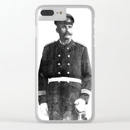 Merchant Marine (Black & White) Clear iPhone Case