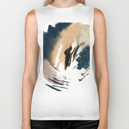 Twilight Wandering - a watercolor and ink abstract  Biker Tank