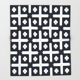 Geometric in Black and White Throw Blanket