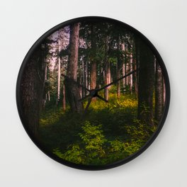 Oregon Forest II Wall Clock