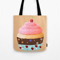 cupcake Tote Bags featuring Cupcake by My Studio