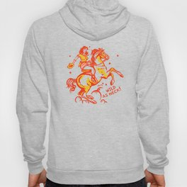 """Wild As Heck"" Cute & Funny Vintage Cowgirl Design Hoody"