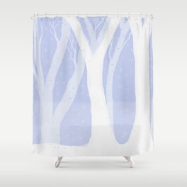 Magical Forest Winter Shower Curtain