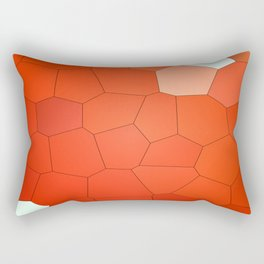 Red Abstract Animal. Rectangular Pillow