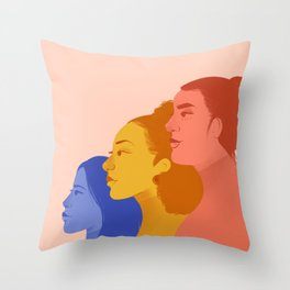 Feminist Fighters Throw Pillow