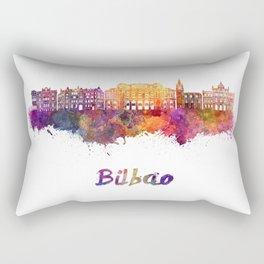Bilbao skyline in watercolor Rectangular Pillow
