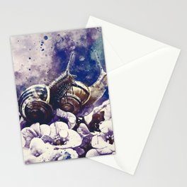 two snails make love wsfn Stationery Cards