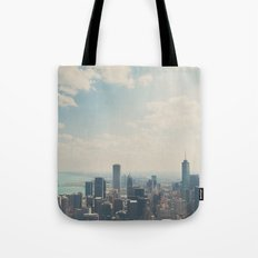 Looking down on the city ... Tote Bag