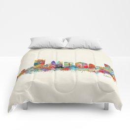 toledo ohio skyline Comforters