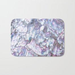 Mermaid Shell Beautiful Pearly Surface #decor #society6 #buyart Bath Mat