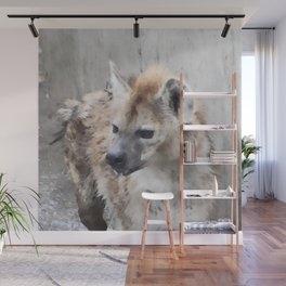 WColor hyena Wall Mural